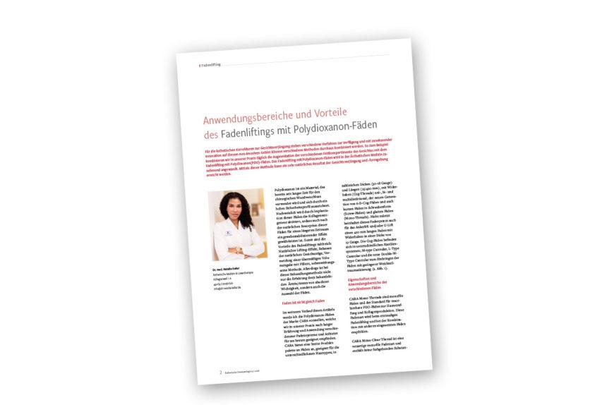 """Artikel aus der aktuellen Ausgabe der """"Ästhetische Dermatologie"""""""
