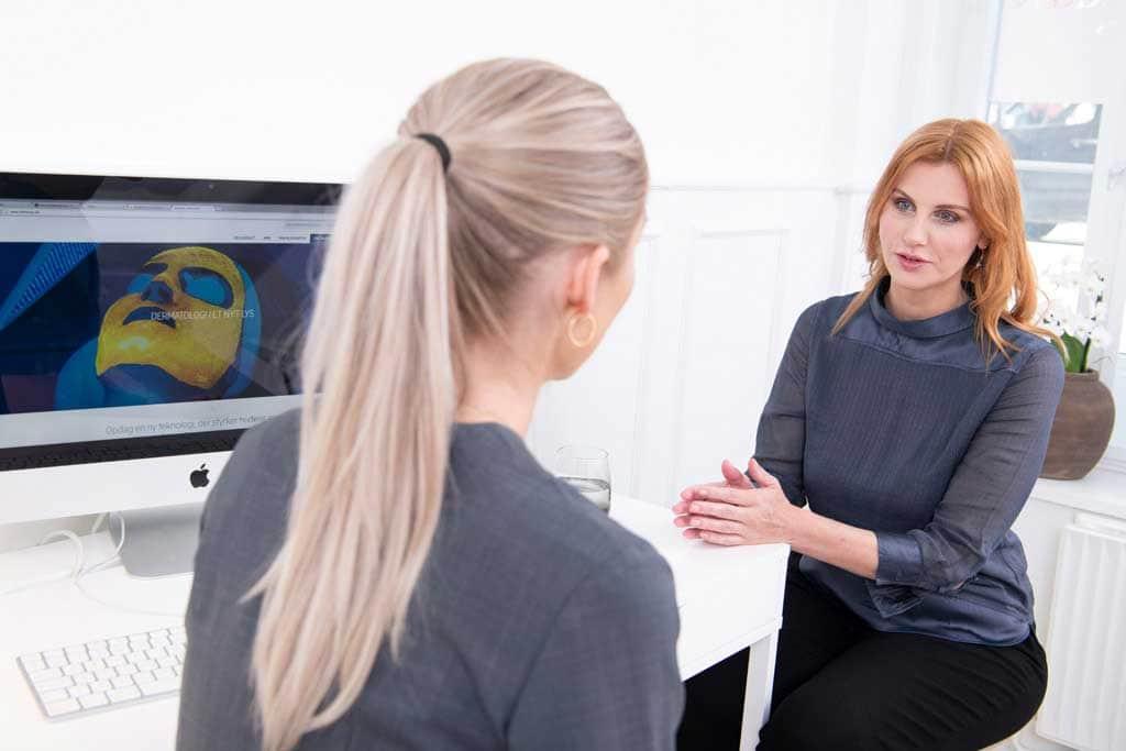 Behandlung - Nicht-invasive biophotonische Gesichtsbehandlung
