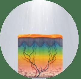 Fluorescenz kreis - Nicht-invasive biophotonische Gesichtsbehandlung