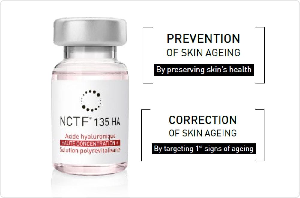 Nanosoft NCTF 8 - Biorevitalisierung mit NCTF<sup>®</sup> 135 HA von NANOSOFT<sup>™</sup>